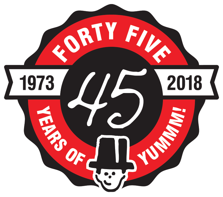 Hungry Hobo 45th Anniversary Seal